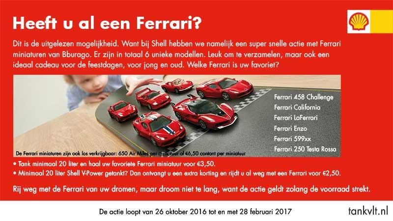 Shell Ferrari actie